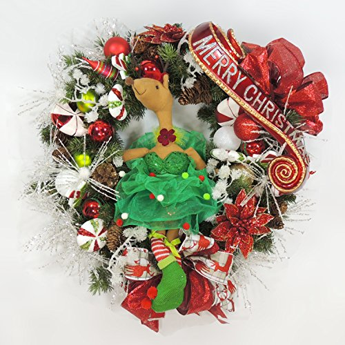 [A Fun Contemporary Christmas Wreath Featuring an Elfin Raindeer in a Dance Costume] (Traditional Costume Contemporary Dance)