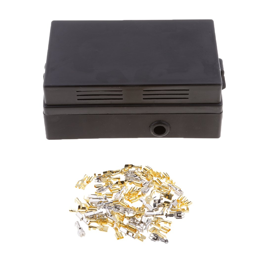 Baosity Automotive 18Way Fuse 10 Relay Holder Distribution Block Corrosion Resistant