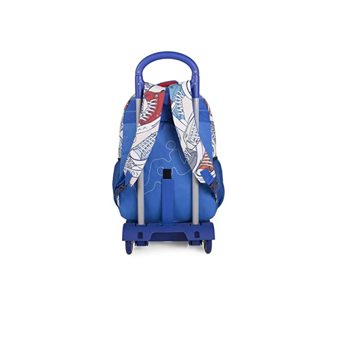 Lois - Mochila Escolar con Ruedas Infantil para Niño. Carro Trolley Extensible. Asa de Mano. Tiras Ajustables. Cómoda, Ligera, Resistente e Impermeable. ...