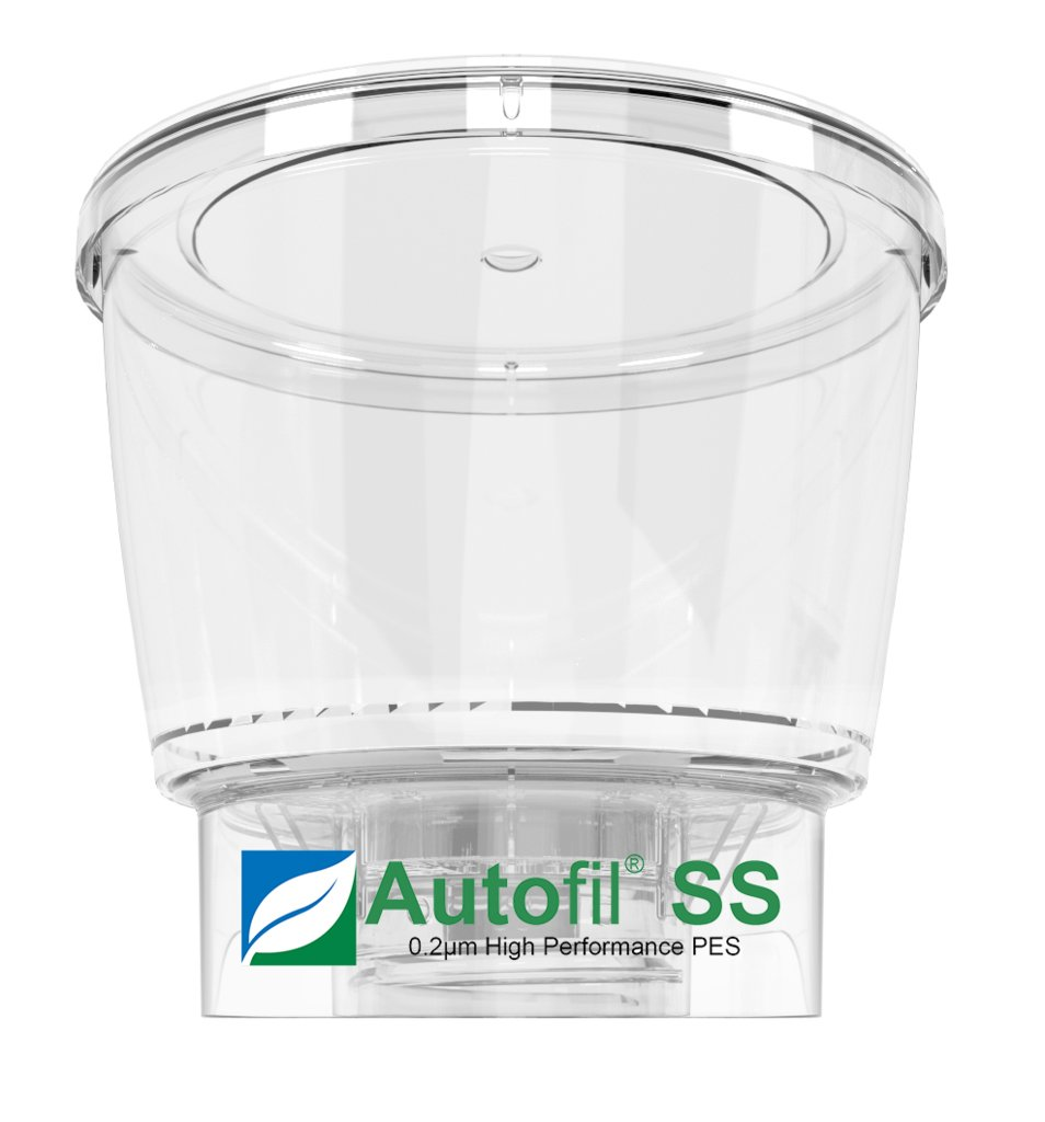 Autofil Super Speed Sterile Disposable Vacuum Bottle Top Filters with 0.2um Foxx Velocity Sterilizing PES Membrane, 500mL, 12/CS by Foxx Life Sciences