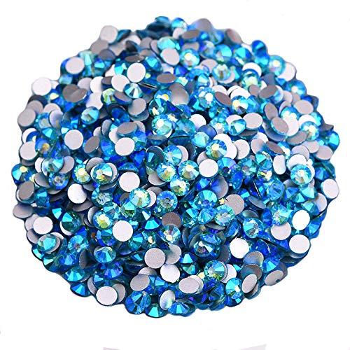 (Jollin Glue Fix Crystal AB FlatBack Rhinestones (ss16 576pcs, Peacock-blue AB))
