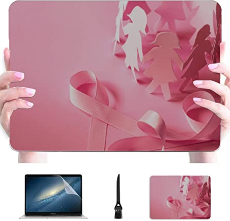 Pink Ribbon Pattern Compatible with MacBook Air 13 inch Hard Plastic Shell Cover Case A1932, 2019 2018 Release