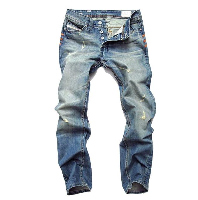 Amazon.com: YRHDC - Pantalones vaqueros para hombre con ...