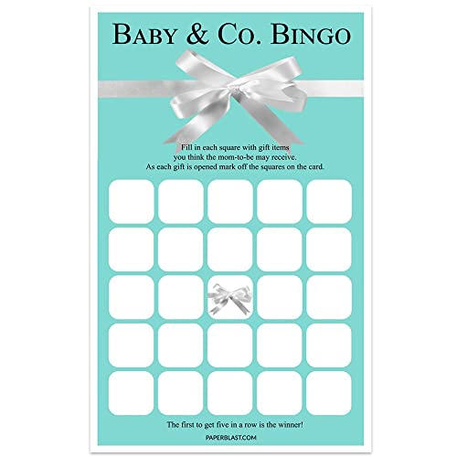 Blue With Bow Baby Shower Game