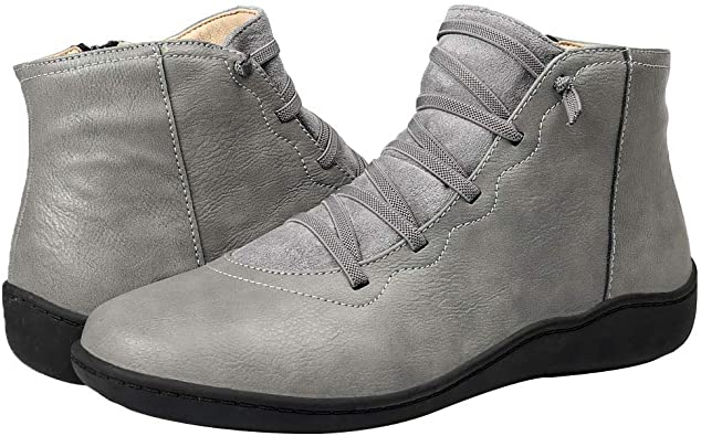 Details about  /Women Winter Warm Bowknot Zipper Round Toe Casual Ankle Boots Low Heel Shoes D