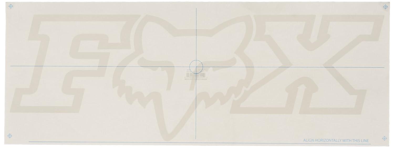 Fox Men's F-Head-X Thermal Die Cut Sticker 28 Inch black OS Fox Young Men's 03270-001