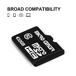 Micro Center 32GB Class 10 Micro SDHC Flash Memory Card with Adapter (2 Pack) (Color: 32GB - 2 pack, Tamaño: 32GB x 2)