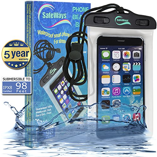 100% Waterproof Transparent Seal Phone Case For Men & Women - Compatible With All iPhone, Samsung, HTC, Sony, Nokia Models & All Cellphones/Tablets/iPods/Cameras Up To 7-Inch – By Safeways