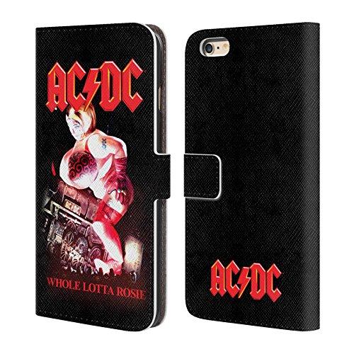 Officiel AC/DC ACDC Angus Young Concerte Titres De Chanson Étui Coque De Livre En Cuir Pour Apple iPhone 6 Plus / 6s Plus