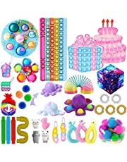 Sensory Fidget Toys Sets, 30 Pack Fidget Toy Sets Cheap with Dimples-Digits for Kids Adults, Fidget Box Bubble Stress Reliever Anxiety Relief Sensory Toys