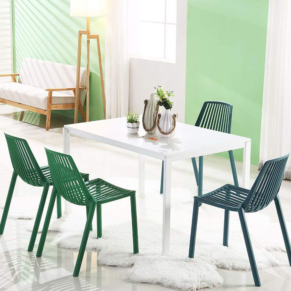 JIEER-C Fritidsstolar plast matstolar set med 2 ergonomi fritid bordsstol modern restaurang ryggstöd stol kontor vardagsrum balkong hållbar stark gRÖN