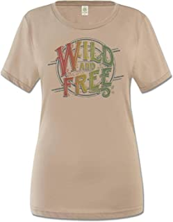 product image for Soul Flower Women's Wild and Free Organic Classic T-Shirt