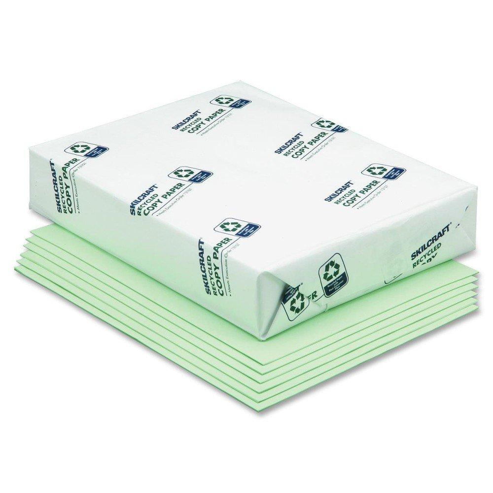 SKILCRAFT 7530011476812 Copy Paper, 8-1/2 X 11, 20lb, Green, 5000 Sheets/box