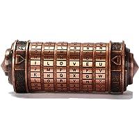 Phonleya Bloqueo de código Da Vinci Cryptex - Cerradura de Amante de aleación de Zinc Retro romántica Creativa Caja de…