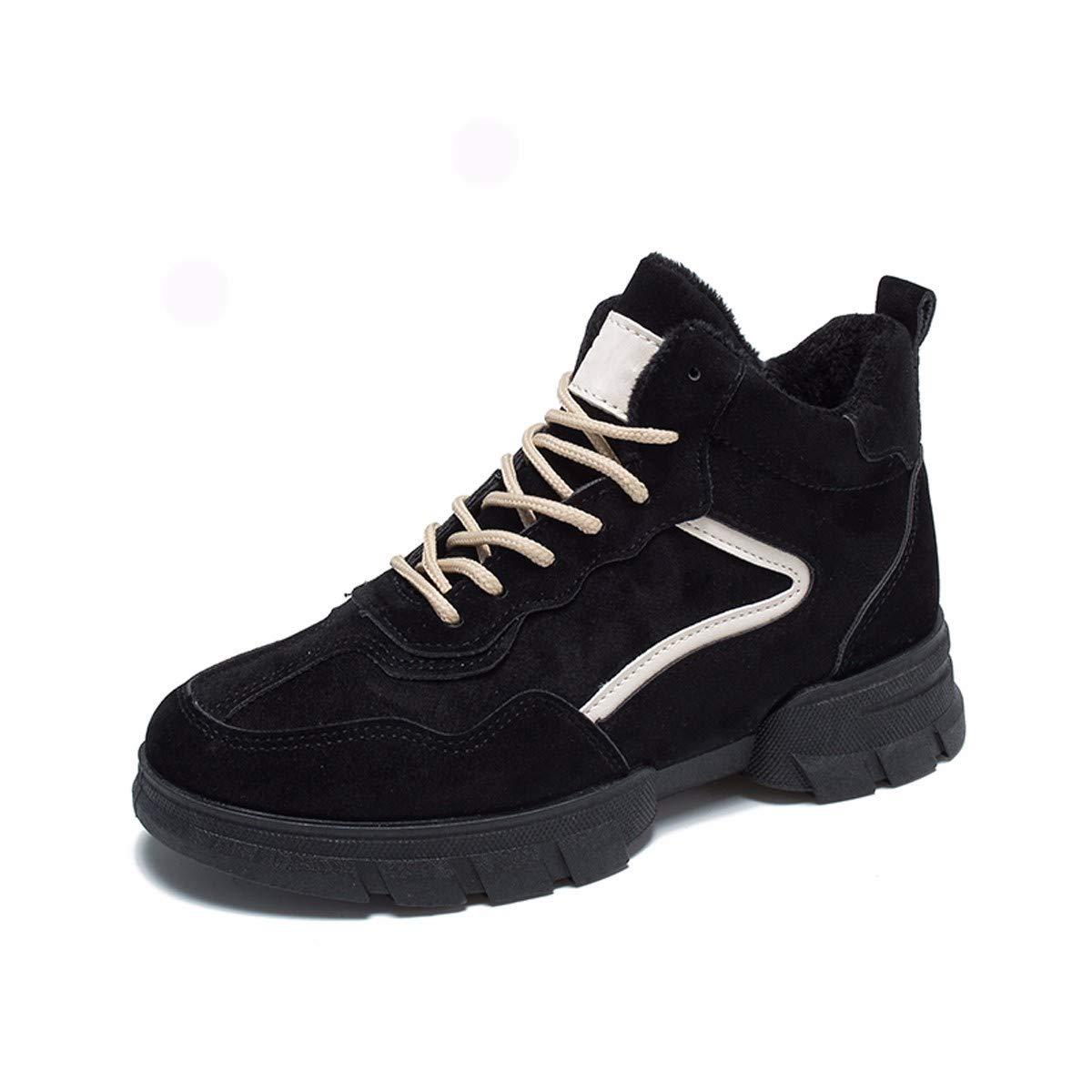 KPHY Damenschuhe Im Winter Kalte Füße Haut Lace Up Alte Schuhe Erholung Freizeit Und Baumwolle Warm Und Wilden Sportschuhe