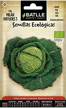 Semillas Ecológicas Hortícolas - Col Milán Virtudes 3- ECO - Batlle