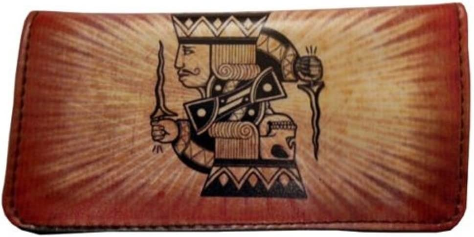 Tobacco Case Pouch Synthetic Leather Wallet Bag Rolling Ladies With Skull Flower