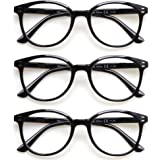 3 Pack Reading Glasses Spring Hinge Stylish Readers Black / Tortoise for Men and Women