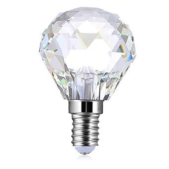Lampe3 WE14Cristal Pour Led Lustre Purelume Ampoule Crystal Globe 1F3lKJcT