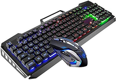 Teclado para juegos y mouse Combo Teclado con cable con luces ...