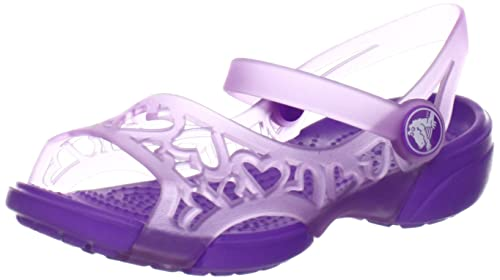 240d21ab8eda Amazon.com  crocs 14095 Adrina Hearts S Sandal (Toddler Little Kid ...