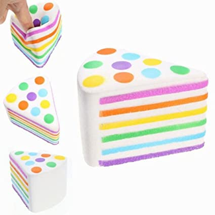 Amazon Com For Adult Kids Toy New Jumbo Rainbow Cake Squeeze