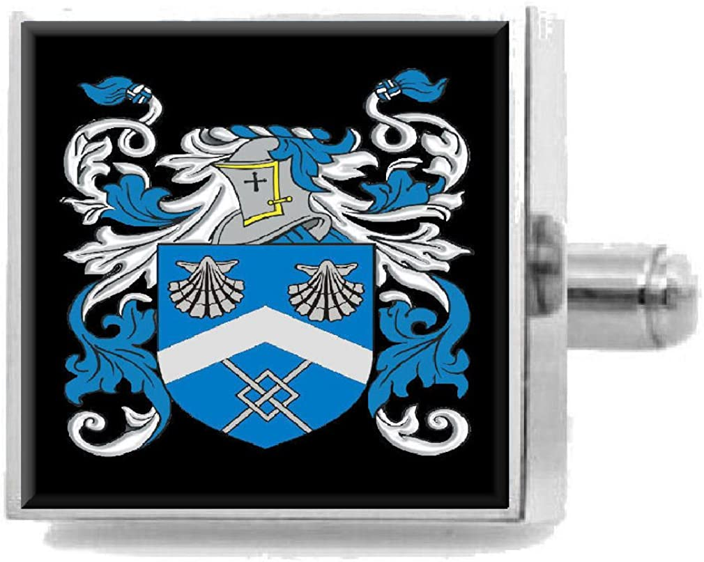 Select Gifts Macleod Scotland Family Crest Surname Coat Of Arms Cufflinks Personalised Case