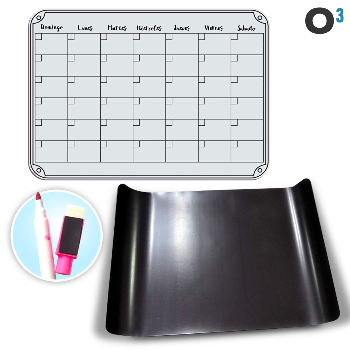 O³ Calendario Magnetico Nevera + Regalo - Pizarra Magnética Nevera ...