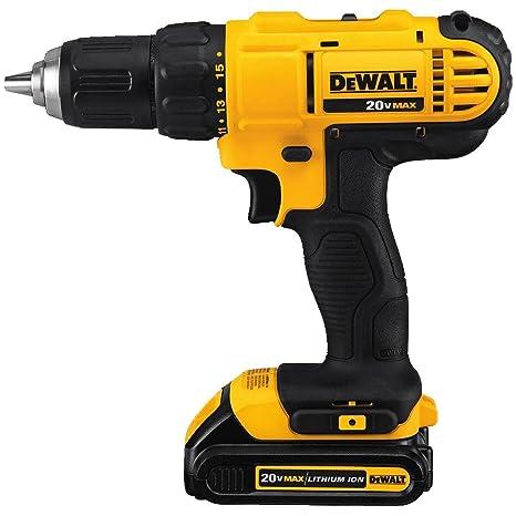 Dewalt DCD771C2 20V MAX Cordless Lithium-Ion 1/2 inch Compact Drill Driver  Kit