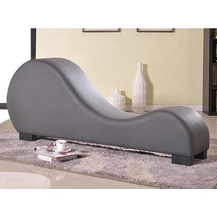 Charmant U.S. Pride Furniture Modern Bonded Leather Yoga Chair