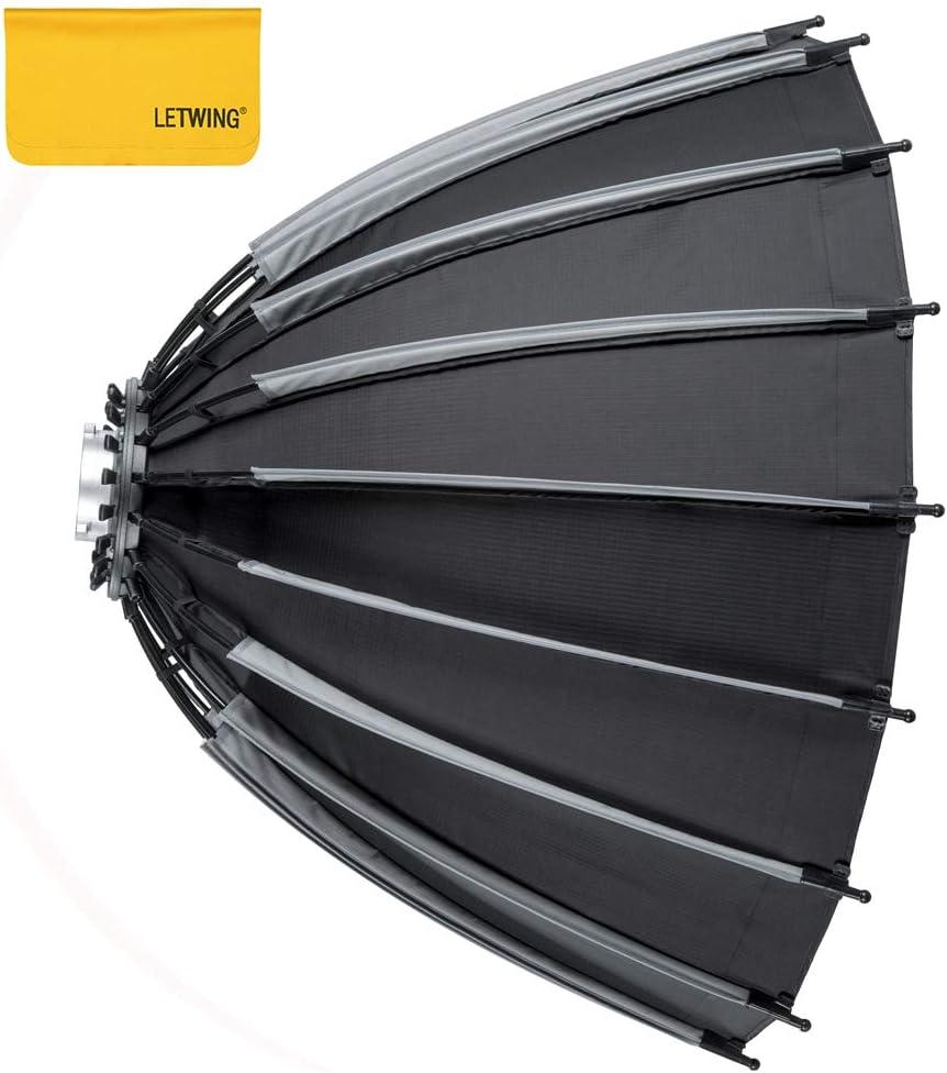 LETWING 90cm ソフトボックス/ハニカムグリッド 速装高速深口放物線柔光箱外写灯フラッシュ撮影携帯用ライトカバー
