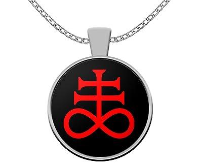 Amazon Esoteric Necklace Leviathan Cross Satanic Symbol