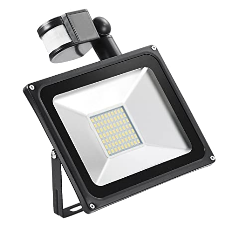 50w Foco led exterior Proyector,Foco sensor de movimiento ,Led Floodlight para Exterior Iluminación