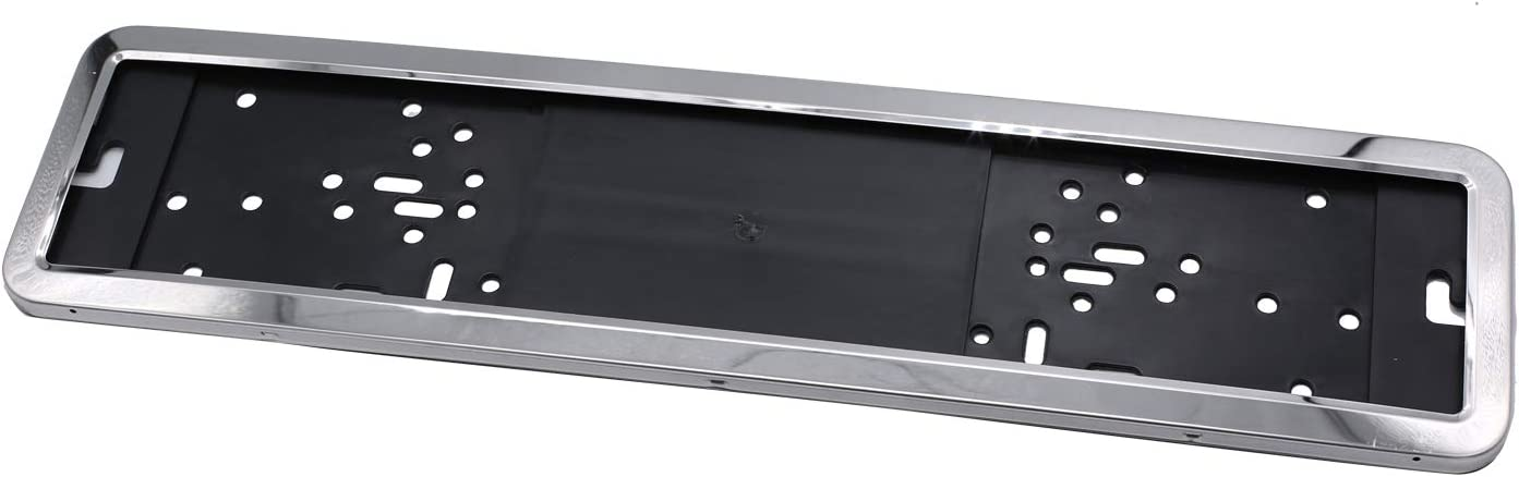 Takpart 2 Piece Vehicle Number Plate Holder Number Plate Holder Number Plate Holder Stainless Steel