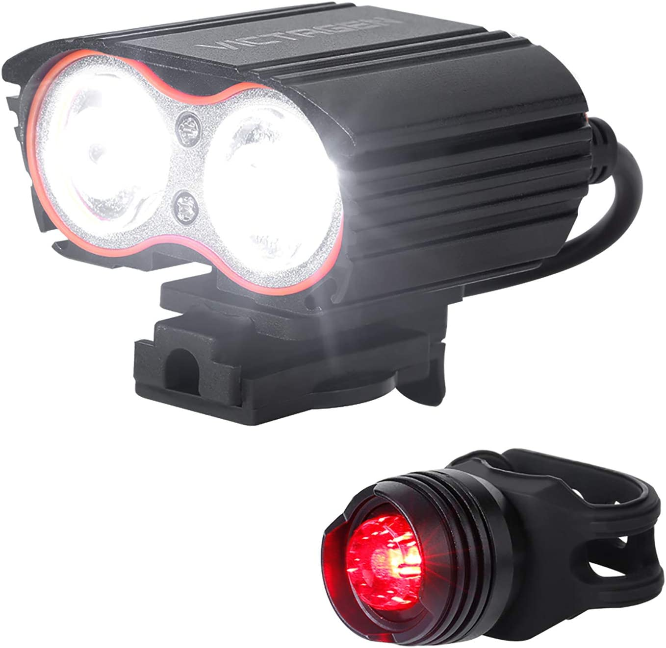 LED USB Rechargeable Bicycle Bike Headlight Front Lamp Torch Light NEW