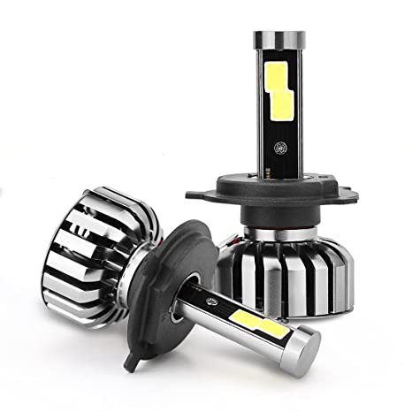 H4 LED Headlight Bulbs - N7 Series Plug and Play Crystal Clear Cool White Lamp All