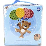 Vervaco Bear with Balloons Shaped Rug Latch Hook Kit, 22'' by 24.75''