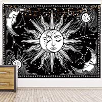 HOTMIR Wall Tapestry - Black Tapestry Wall Hanging as Wall Art and Home Decor for Bedroom, Living Room, Dorm Decor