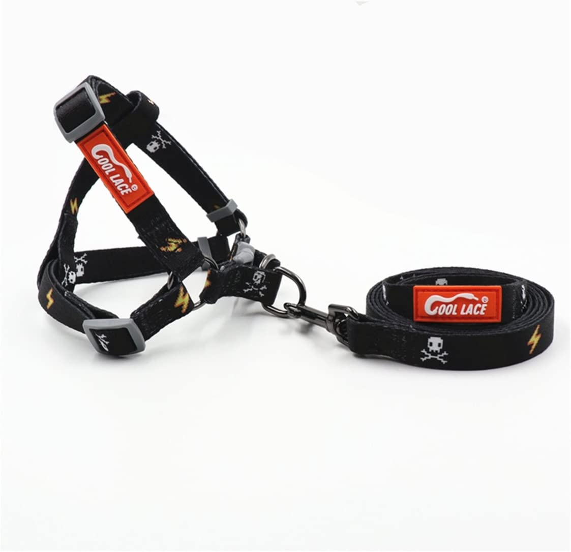 COOL LACE Dog Harness Durable Dog Leash Adjustable Dog Collar Dog Leash Harness for Small Medium Dogs