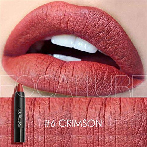 Focallure Matte Lipstick Metallic Sparkly Lipgloss Womens Makeup Stay On Lip Gloss Long Lasting Solid Waterproof Lip Stick
