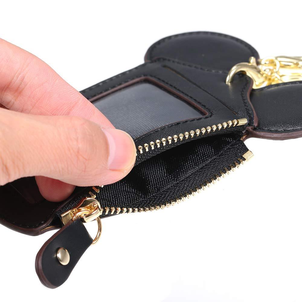 Entweg Titular de la tarjeta de dibujos animados Protector ID Caja de tarjeta de cr/édito Piel Mini bolsillo delgado Monedero Monedero