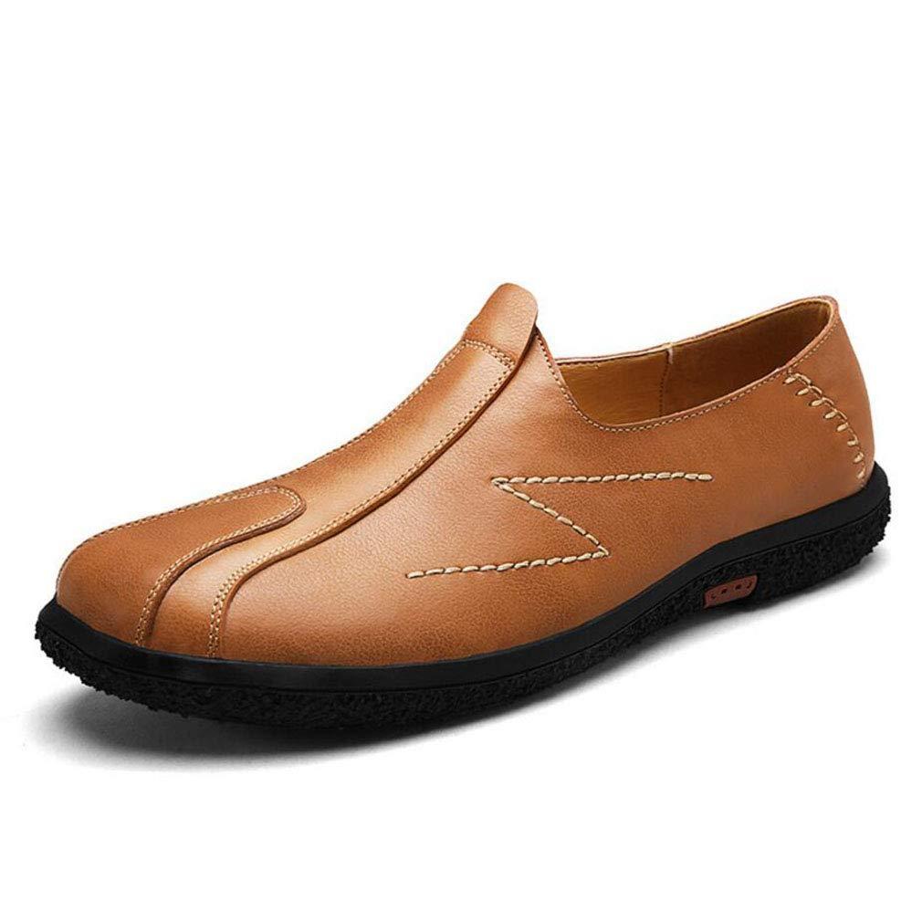 YAN Herrenschuhe Smart Casual Schuhe Herren Loafers Slip on Schuhe Herren Leder Driving Schuhe Hellbraun, Dunkelbraun, Schwarz