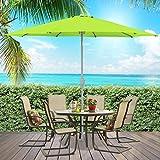 Best Choice Products 9ft Aluminum Outdoor Umbrella Patio umbrella w/crank Tilt-Light Green