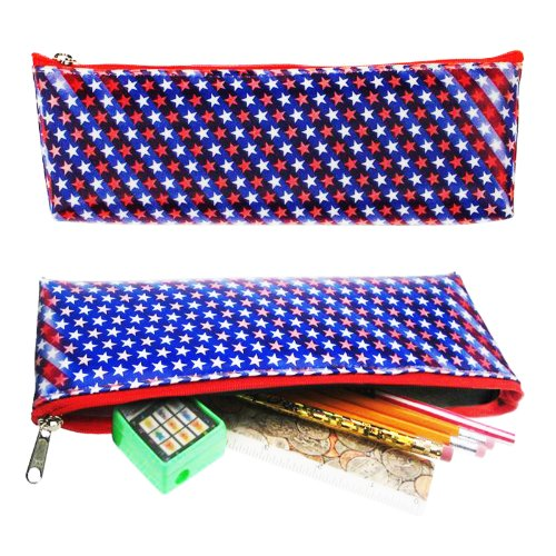 Price comparison product image Lenticular Coin Purse / Holder / Case, SOBRE , RED, WHITE, BLUE STARS
