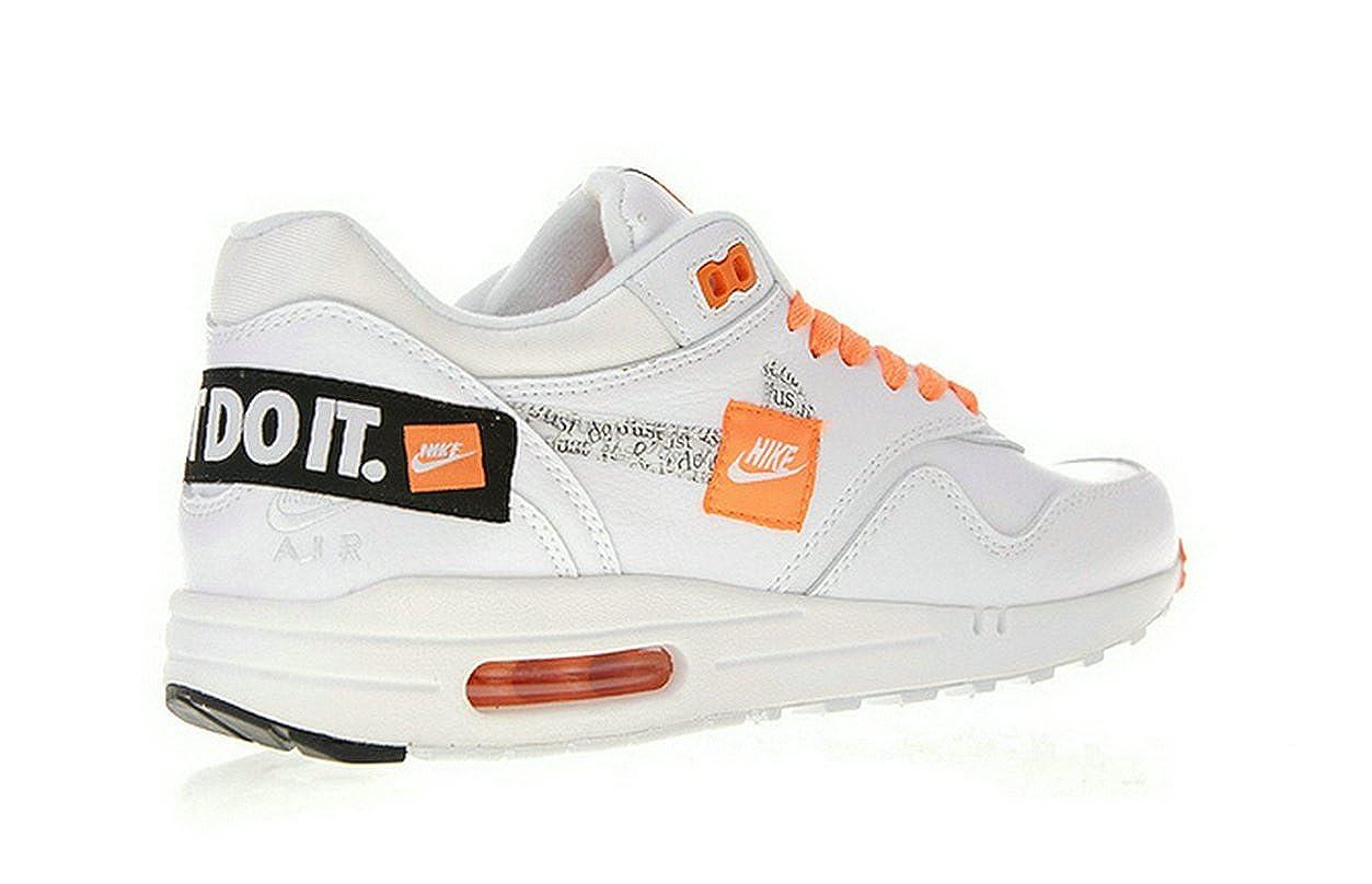 best service 51231 a7a49 Air Max 1 Just Do It White Orange Chaussures de Gymnastique Homme Femme   Amazon.fr  Chaussures et Sacs
