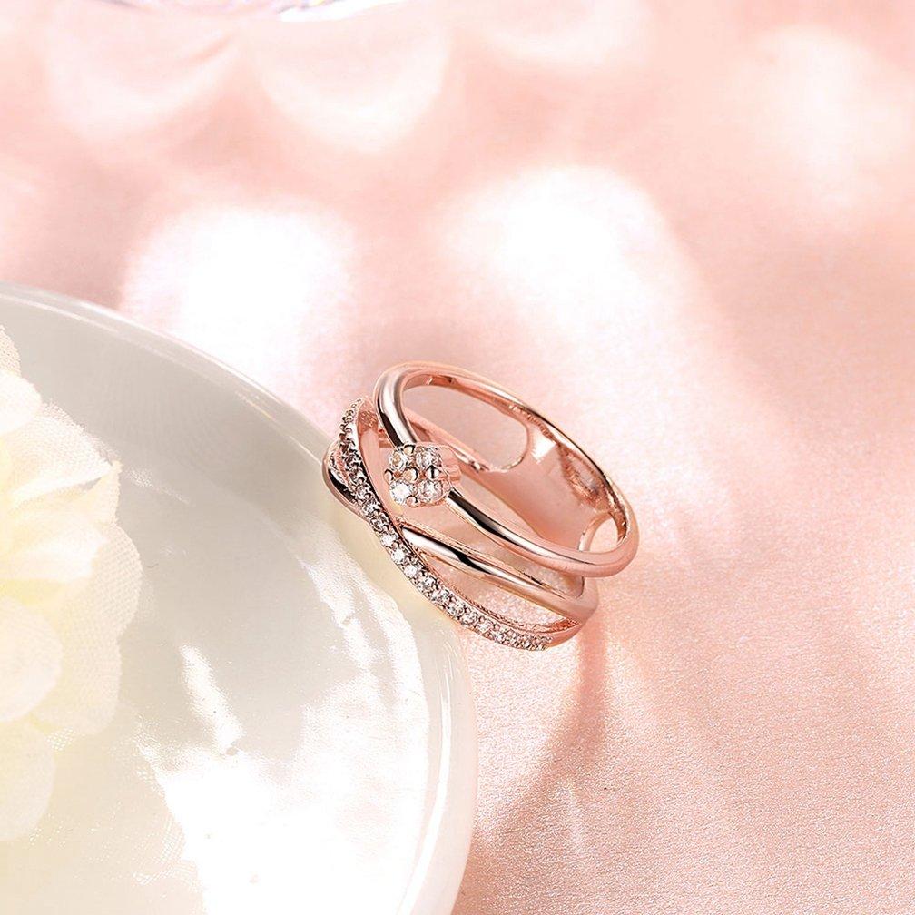 Amazon.com: Women\'s Vintage Infinity Shank Rings Enhancer 18K Gold ...