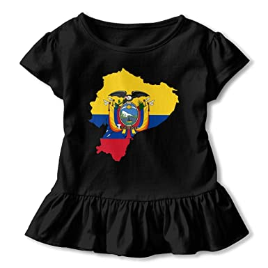 j65rwjtrhtr Girls Camisetas Sleeve Flag Map of Ecuador ...