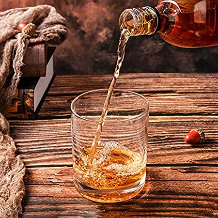 [ 6-pack,350ml/11.8 oz]DESIGN·MASTER-Premium Vasos de whisky , Vaso estilo rock antiguo para whisky escocés, bourbon, cócteles, ron, vasos de whisky duraderos para fiestas y campamentos.