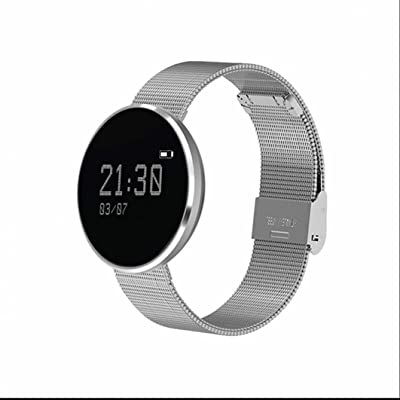 Bluetooth bracelet intelligent avec GPS Sport Pédomètre,Calendrier,chronomètre,Synchroniser les données de mouvement,Mode de vibration silencieuse,écran tactile capacitif pour Tous les Andro