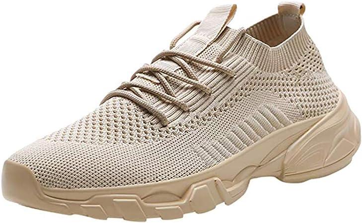 LXJL Zapatillas de Deporte para Hombre Zapatos con Cordones Patrón de Panal liviano, Zapatos Casuales Transpirables Que absorben los Golpes,d,39: Amazon.es: Hogar